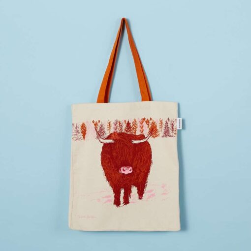 Highland Cow Tote Bag by Cherith Harrison