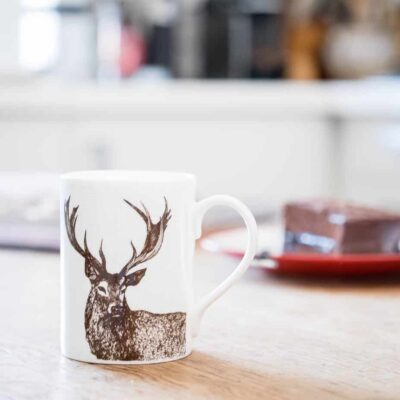 Noble Stag Mug by Cherith Harrison