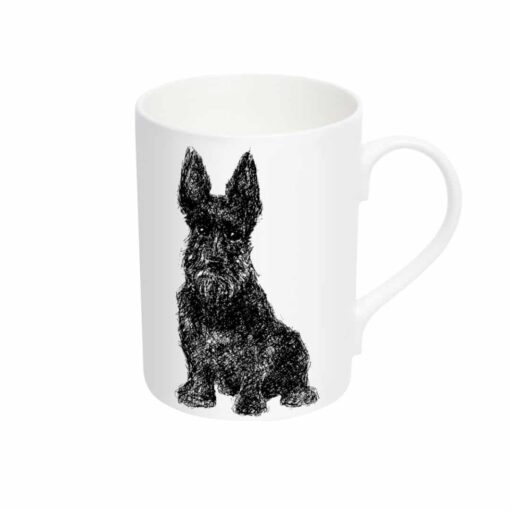 Bone china mug with Scottie dog design by Cherith Harrison