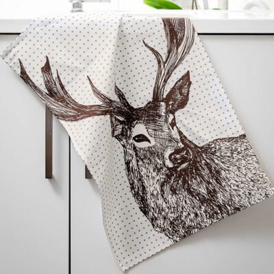 Cherith Harrison Stag Tea Towel