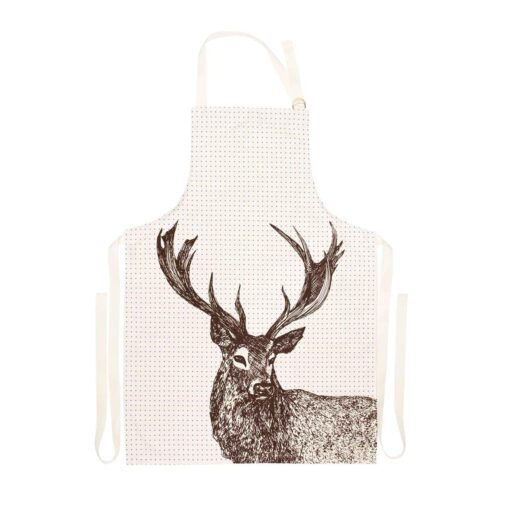 Animal apron with stag design by Cherith Harrison