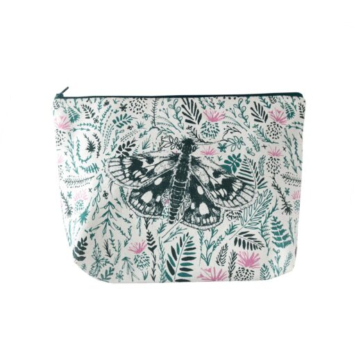 Our Thistles and Butterflies wash bag designed by Cherith Harrison