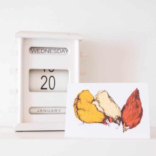Chatty Chicken Card by Cherith Harrison.