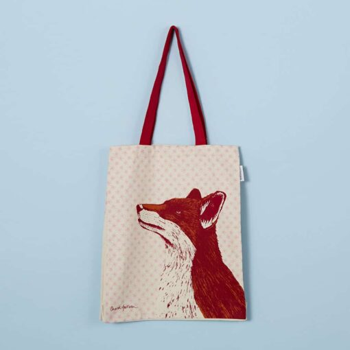 Fancy Fox Tote Bag by Cherith Harrison.