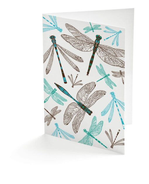 Dynamic Dragonfly Card by Cherith Harrison.