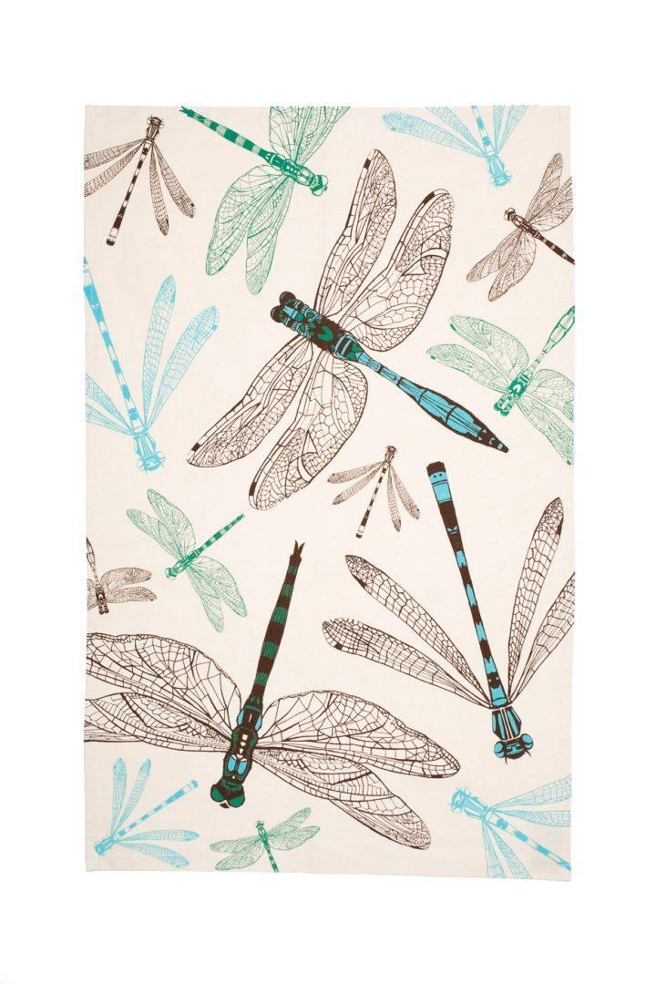 Dynamic Dragonfly Tea Towel