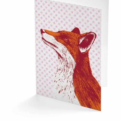 Fancy Fox Card by Cherith Harrison.