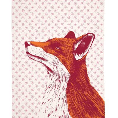 Fancy Fox Tea Towel