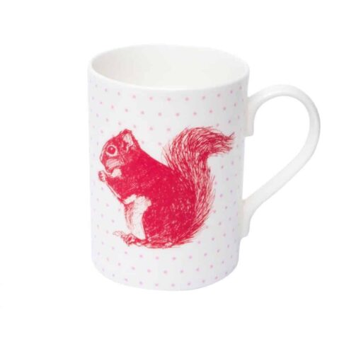 Cheery Red Squirrel Mug