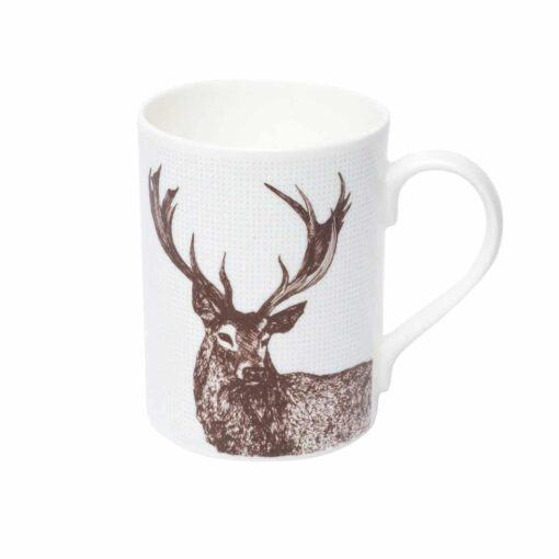 Scottish animal Mug in stag design by Cherith Harrison