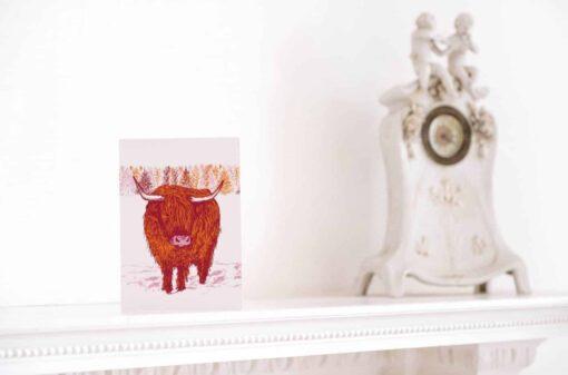Trusty Highland Cow Card