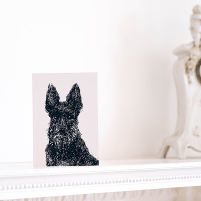 Scottie Dog Card