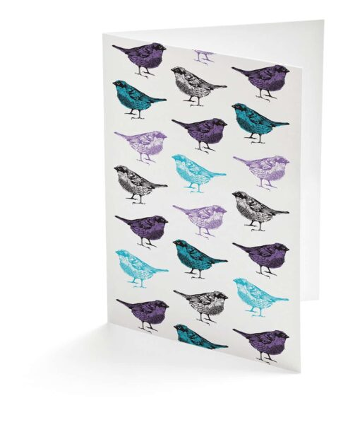 Chirpy Sparrow Bird Greeting Card by Cherith Harrison.