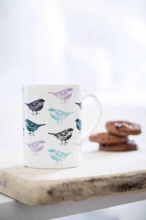 Chirpy Sparrow Bird Mug