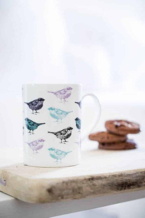 Chirpy Sparrow Bird Mug
