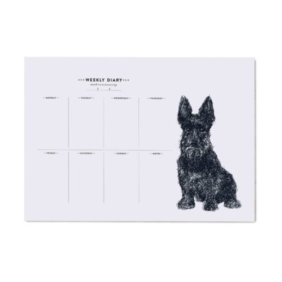 Scottie Dog Weekly Planner by Cherith Harrison