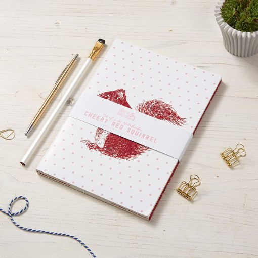 Red Squirrel Notebooks by Cherith Harrison