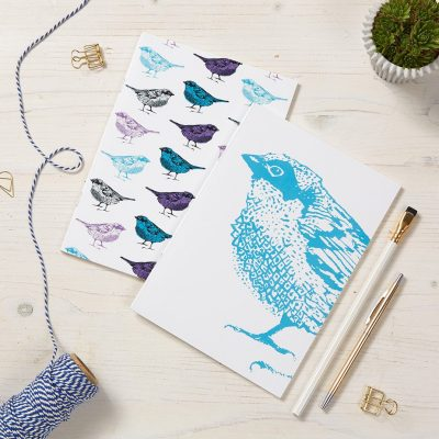 Chirpy Sparrow Bird Notebooks By Cherith Harrison