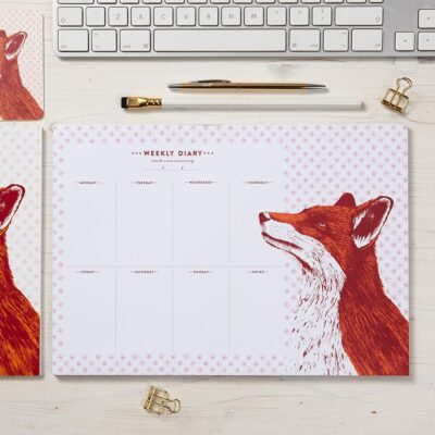 Fancy Fox Weekly Planner by Cherith Harrison