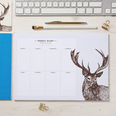 Stag Weekly Planner by Cherith Harrison
