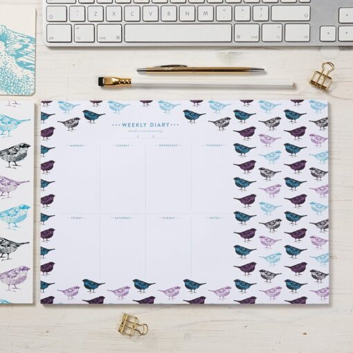 Chirpy Sparrow Bird Weekly Planner by Cherith Harrison