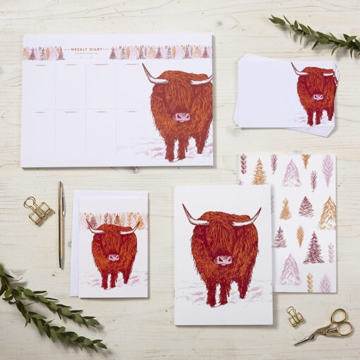 Highland Cow Stationery