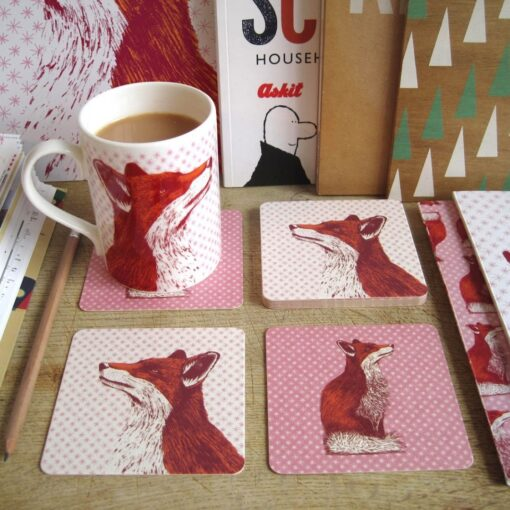Fancy Fox Coasters
