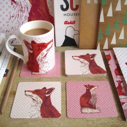 Fancy Fox Coasters