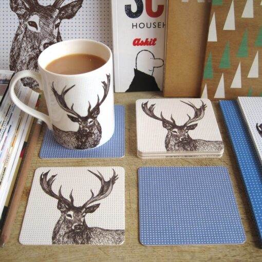 Stag Coasters by Cherith Harrison