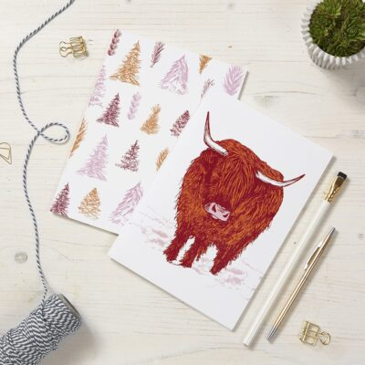 Trusty Highland Cow Notebooks by Cherith Harrison