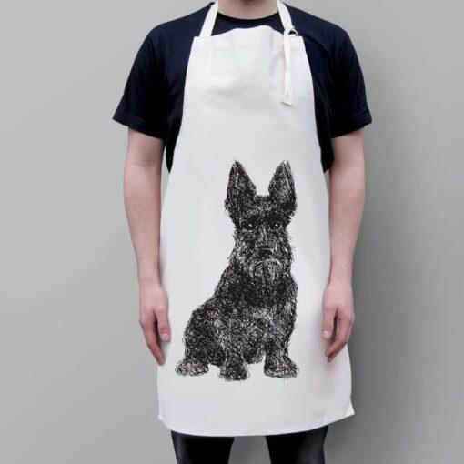 Loyal Scottie Dog Apron
