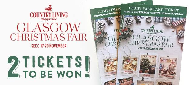 Win tickets to the Country Living Glasgow Christmas Fair