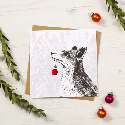 Fox Christmas Card by Cherith Harrison