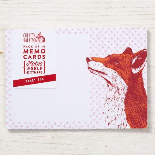 Fancy Fox Note Cards by Cherith Harrison