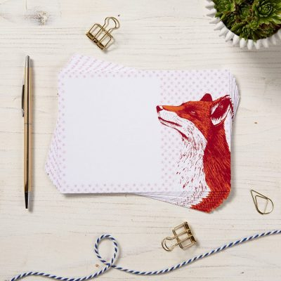 Fancy Fox Note Cards by Cherith Harrison