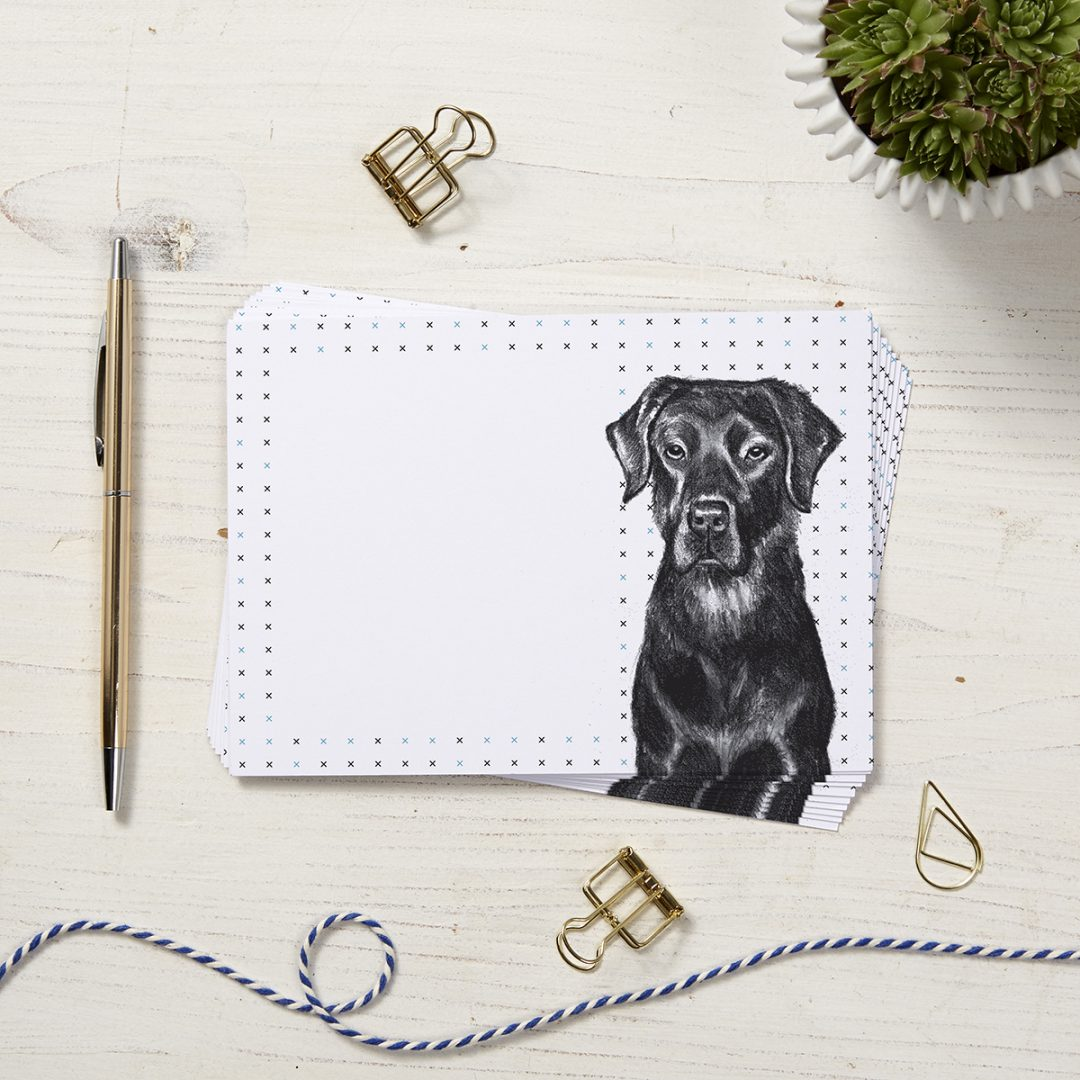 black Labrador Note Cards by Cherith Harrison