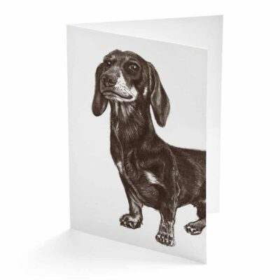 Dashing Dachshund Card by Cherith Harrison