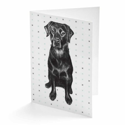 Black Labrador Card by Cherith Harrison
