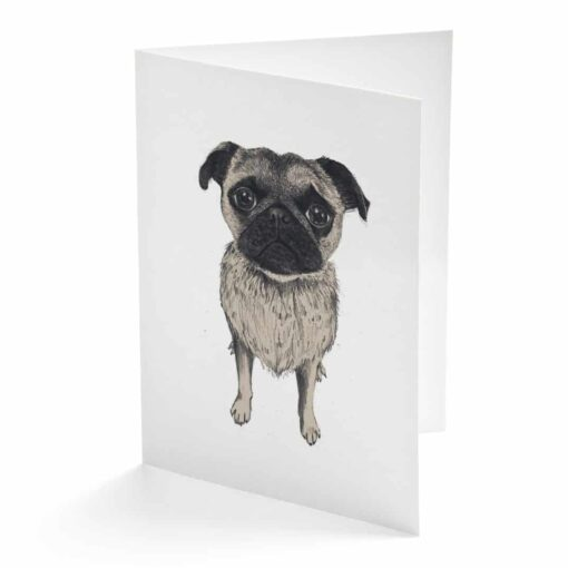 Pug Card by Cherith Harrison