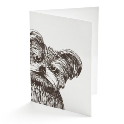 Yorkshire terrier Card by Cherith Harrison