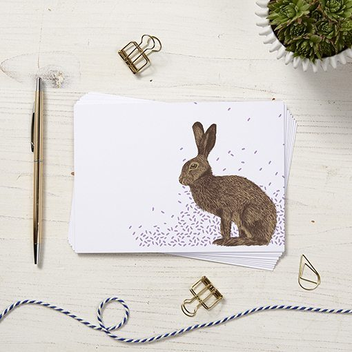 Hare Note Cards by Cherith Harrison