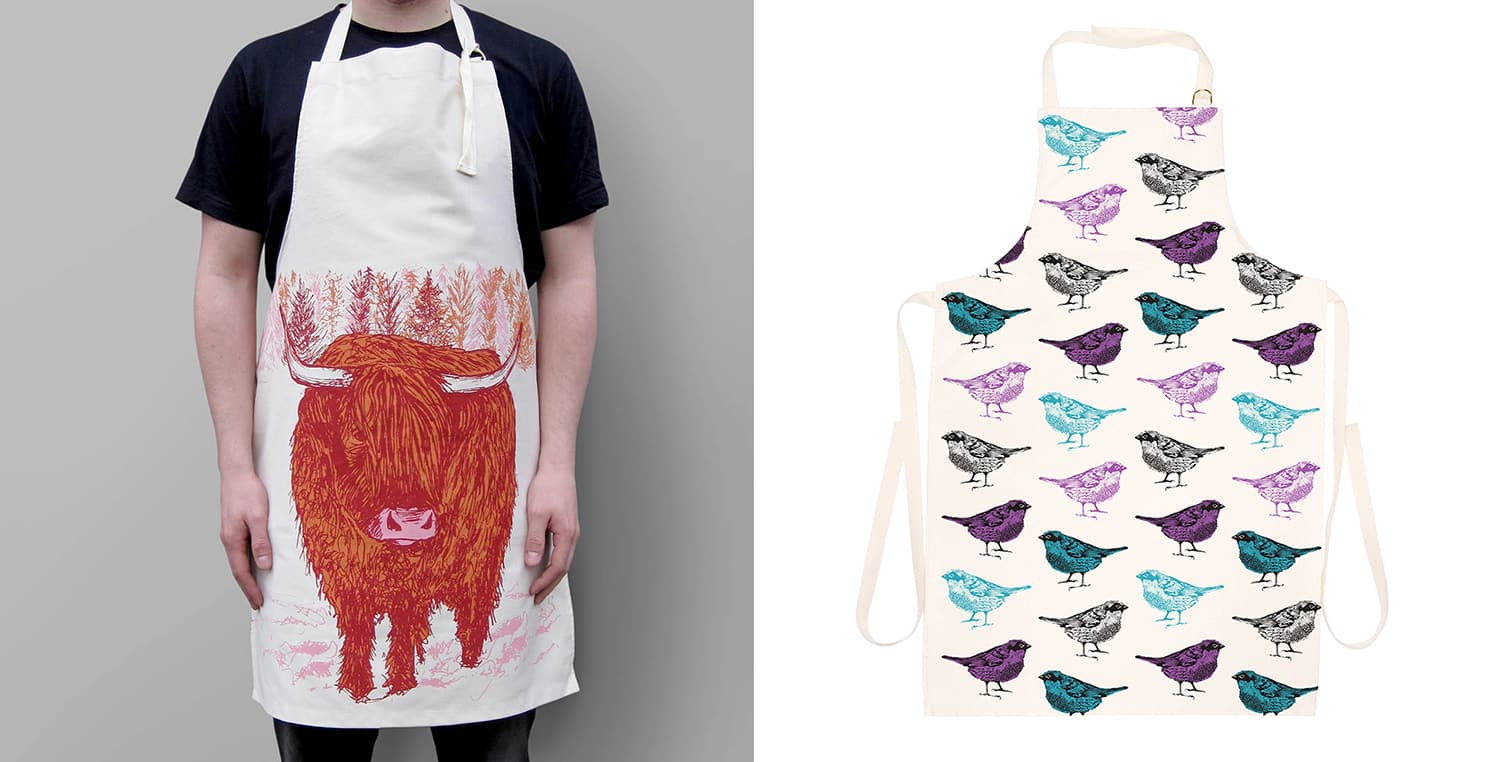 His n' Hers animal Aprons by Cherith Harrison
