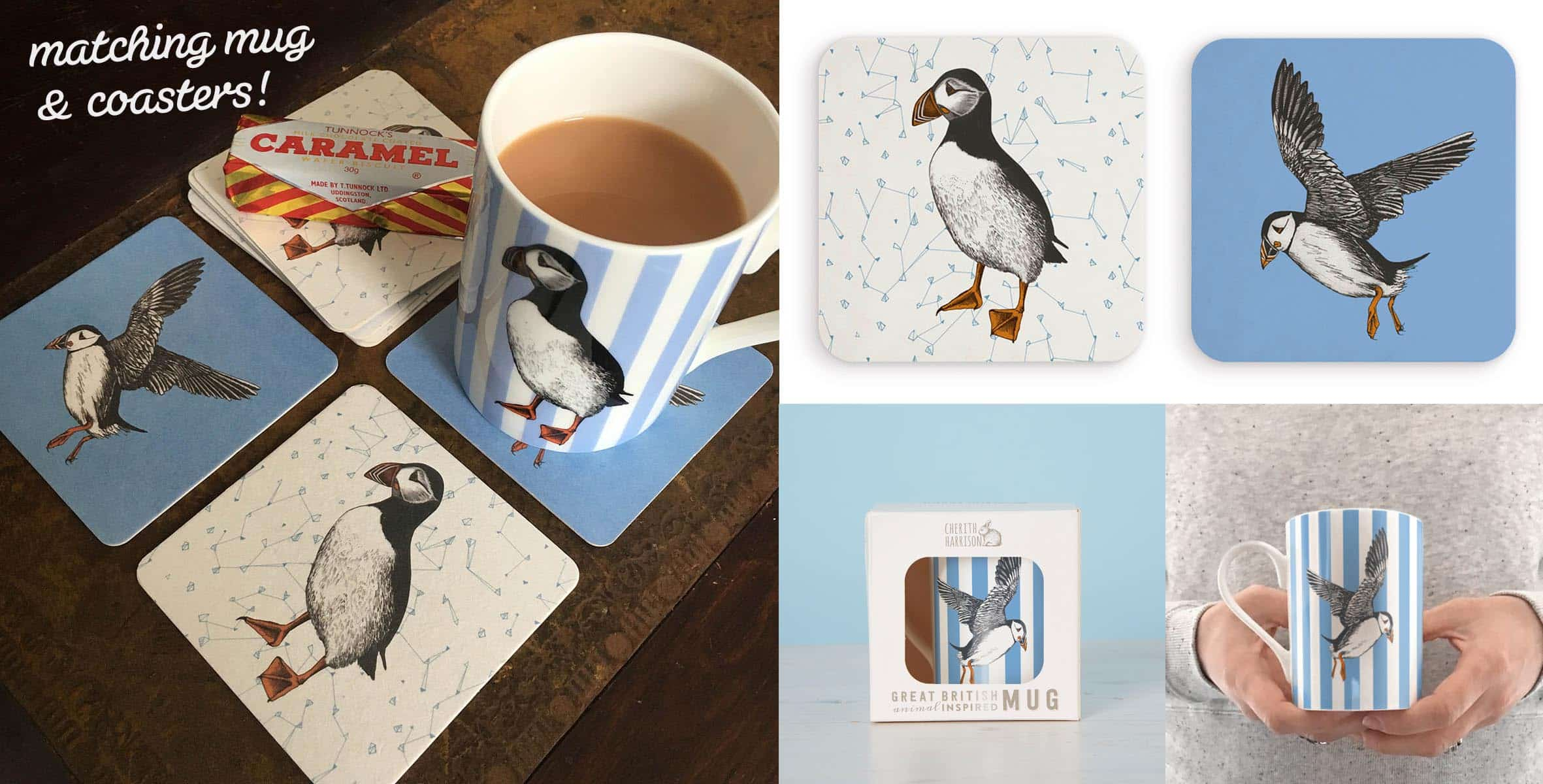 Matching Mug and Coasters by Cherith Harrison