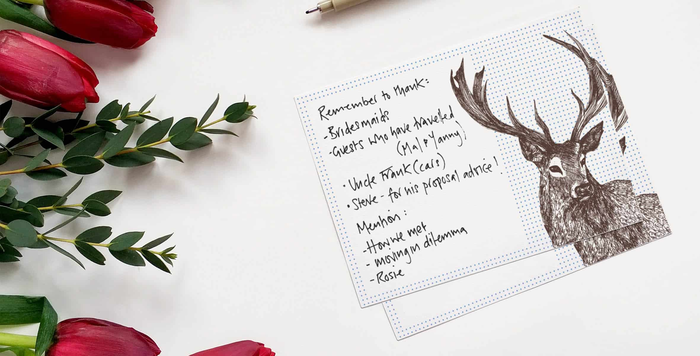 Wedding Speech Cards by Cherith Harrison
