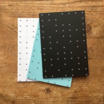 Pack of 3 criss cross patterned notepads by Cherith Harrison