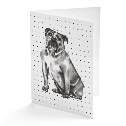 British bulldog Card by Cherith Harriso