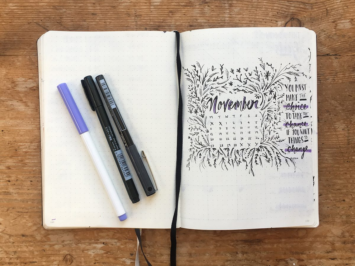 Bullet Journal Layout by Cherith Harrison