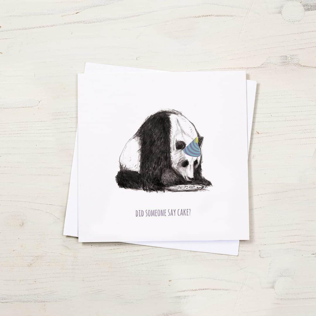 Panda birthday card by Cherith Harrison