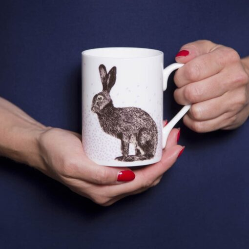 Heather and hare mug by Cherith Harrison