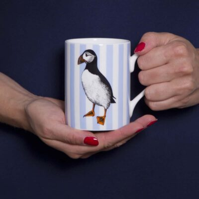 Puffin mug by Cherith Harrison